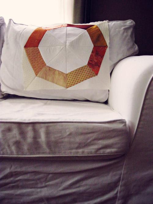 Plotting. A new orange and white quilt.