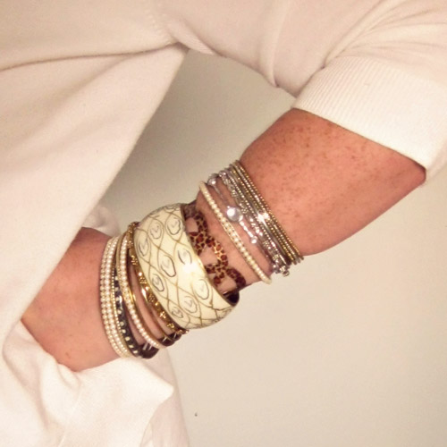 Bracelets. Loving them and getting them on my man-sized hands…
