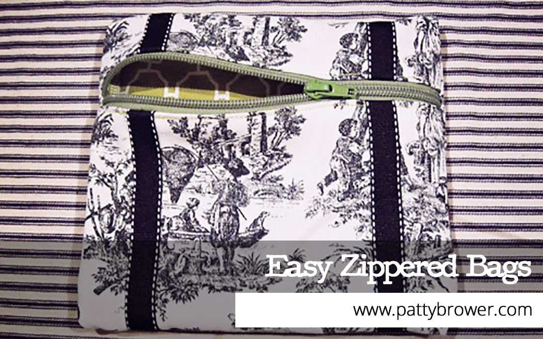 Tutorial: How to make a simple zippered bag