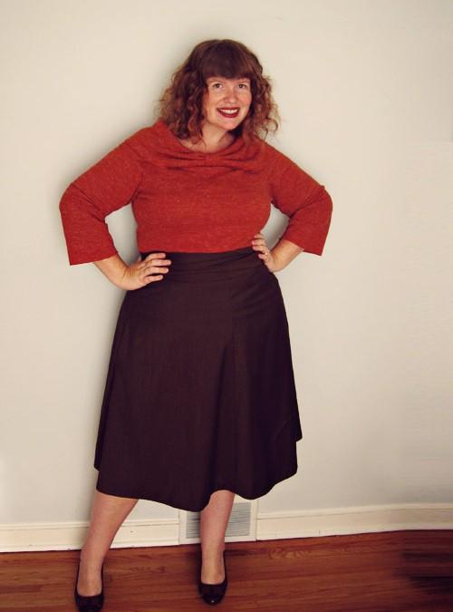 Half a Crepe (dress) & a year-old pumpkin (sweater knit…)