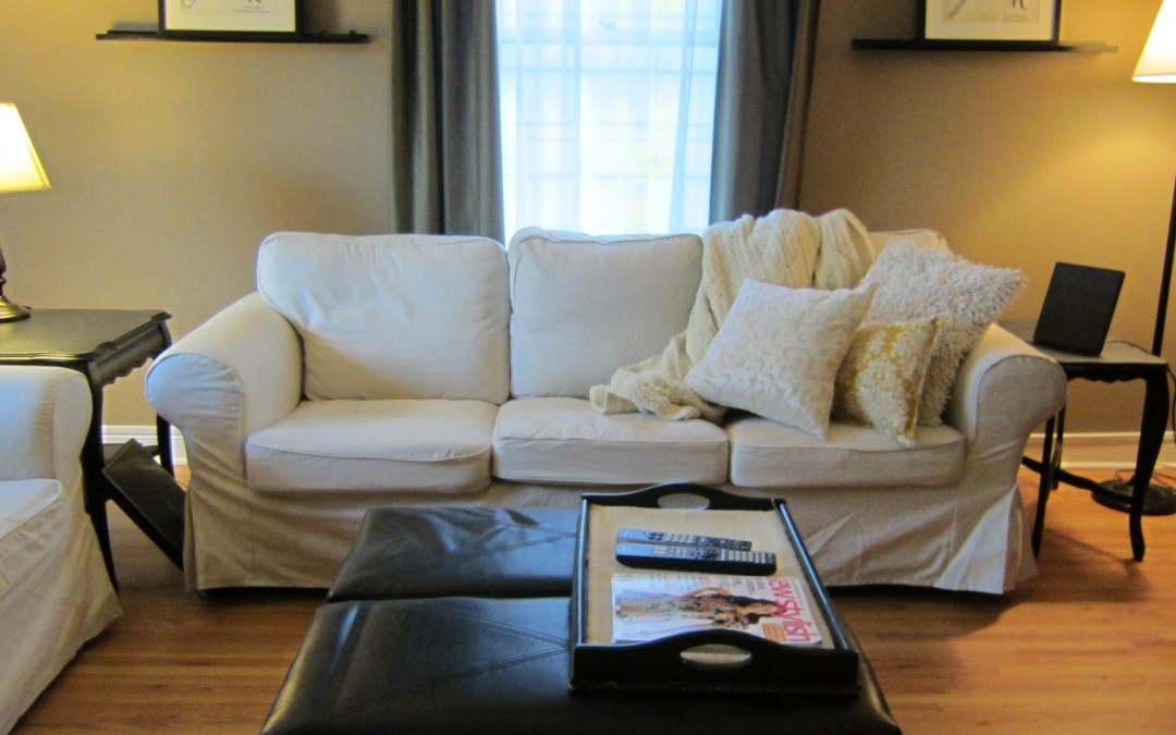 A little before and after… living room style
