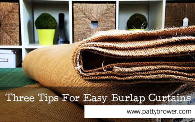 Three tips for sewing burlap drapes (plus a step-by-step!)