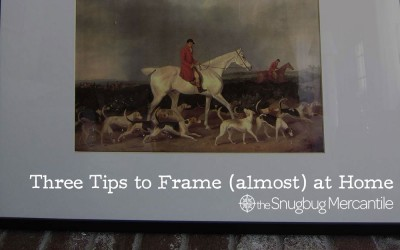 Three Tips for DIY Picture Framing