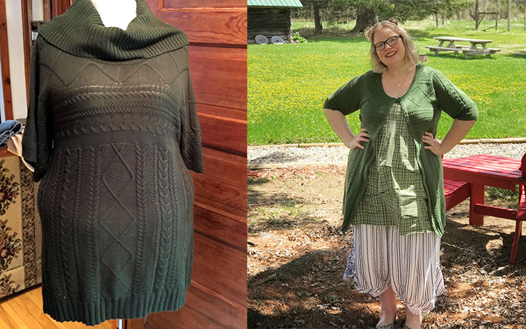 {upcyle} Two Sweater Dresses Remade into Cardigans