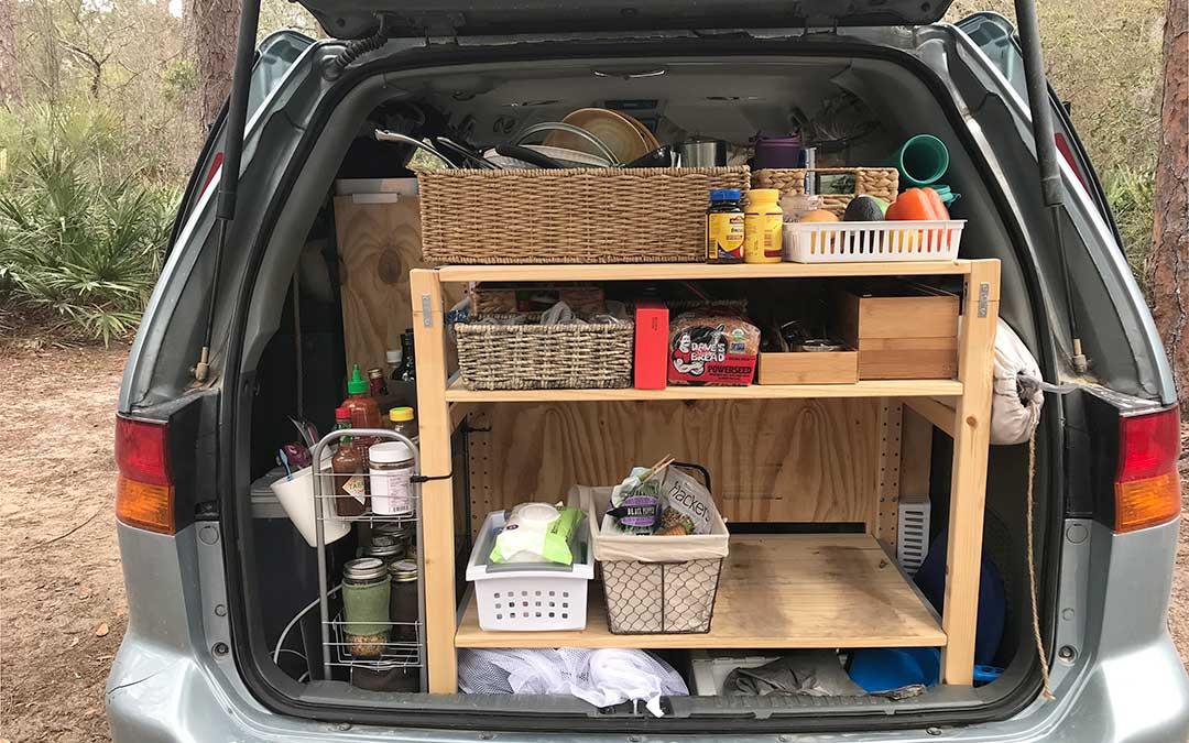 minivan camper kitchen